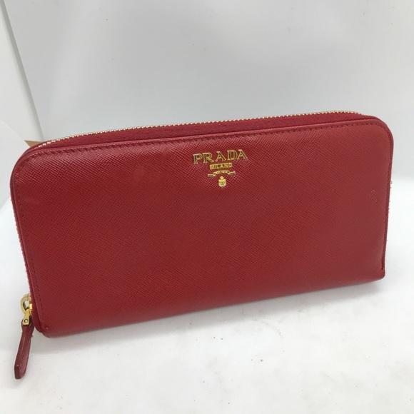 Red prada wallet